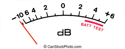 Audio Level Meter - Audio decibel meter scale isolated over...