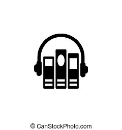 Audio Library Flat Vector Icon