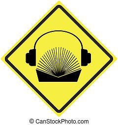 audio, libro, señal
