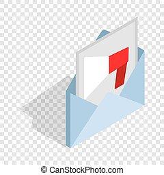 Audio message isometric icon