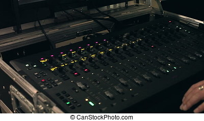 Audio mixer and amplifier equipment at a concert