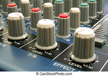 Audio Mixing Desk - Shots of Sound Mixing console