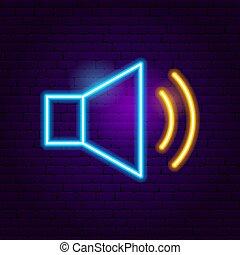 Audio Neon Sign