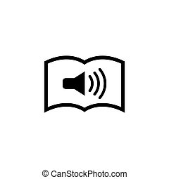 Audio Newspaper Flat Vector Icon
