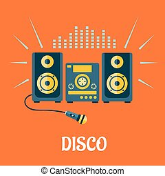 Audio or karaoke system with microphone - Disco party...