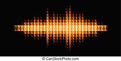 Audio or music shiny sound waveform with triangular filter...
