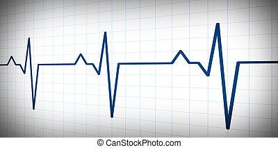 audio or pulse beat wave simple graph - Simple graph wave...