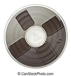 Audio reel - Vintage magnetic audio reel, isolated.