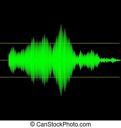Sound wave measurement audio device output interface screen illustration