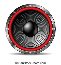 Audio speaker. - Audio speaker on white background.