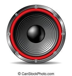 Audio speaker. - Audio speaker on white background.