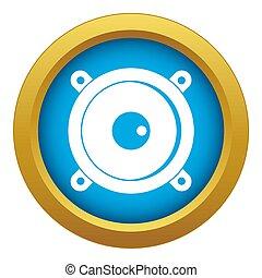 Audio speaker icon blue isolated