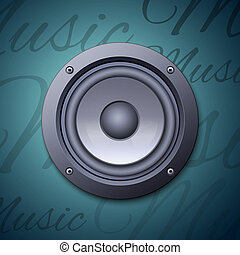 Audio speaker icon. Vector illustration