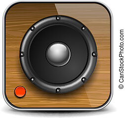 Audio speaker icon, vector Eps10 illustration.