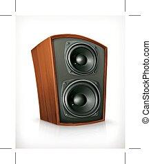 Audio speaker in plane wooden body