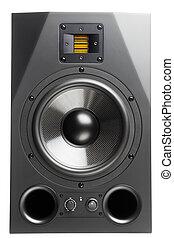 audio speaker, isolated on white