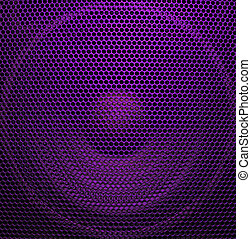 Audio speaker of bright purple color