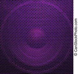 Audio speaker of bright purple color