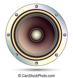 Audio speaker, vector illustration