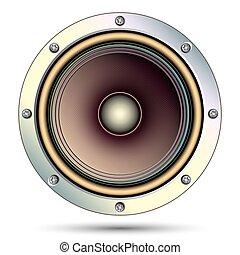 Audio speaker, vector illustration