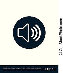 Audio speaker volume icon template