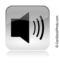 audio speaker web interface icon
