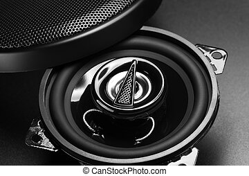 audio speakers - black audio speaker for car