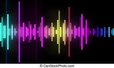 audio spectrum pixel style