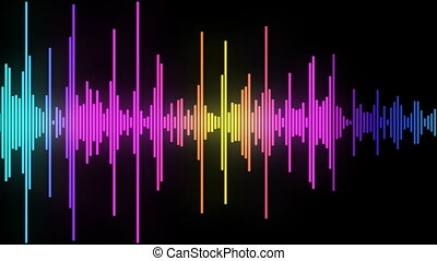 audio spectrum simulation use for music, weather or computer...