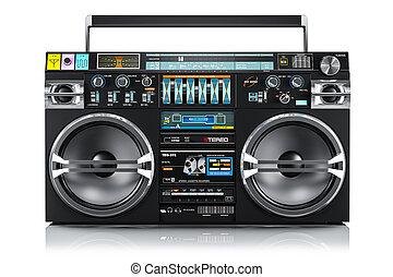 Audio tape recorder, ghetto boombox 3d