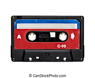 audio tape sound music old grunge - close up of old audio...