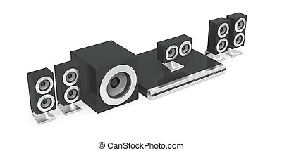 Audio-video player with speakers