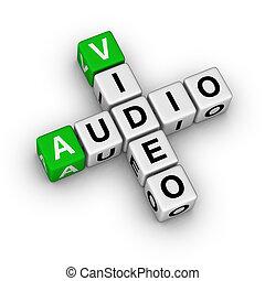 audio, video
