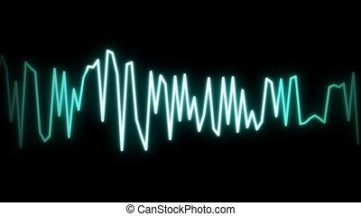 audio wave line background