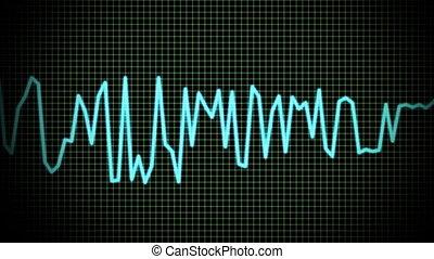 audio wave line - audio spectrum simulation use for music,...