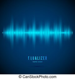 audio, wave., numérique, track., spectre, pouls, signal., vecteur, musique, illustration, equaliser., conception, voix, equalizer., résumé