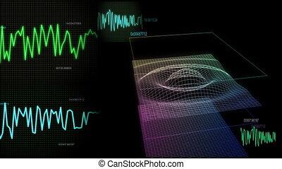 audio wave screen control animation