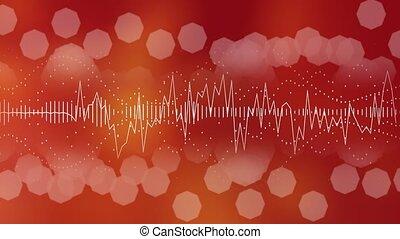 Audio waveform equalizer. Audio waves background