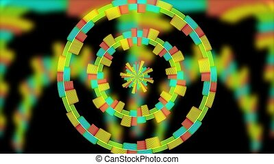 audio waveform spectrum av projection background