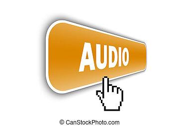 audio - web button