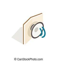 Audiobook icon, isometric 3d style