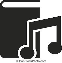 audiobook, icon., vector, design., bibliotheek, symbool., web., graphic., jpg., ai., app., logo., object., flat., image., teken., eps., art., afbeelding
