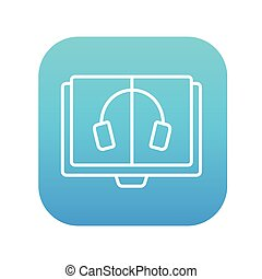 Audiobook line icon. - Audiobook line icon for web, mobile...