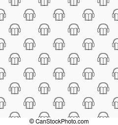 Audiobook minimal pattern - Audiobook pattern - vector...