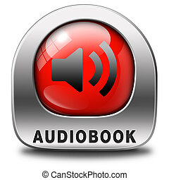 audiobook icon or sign listen online or buy and download...