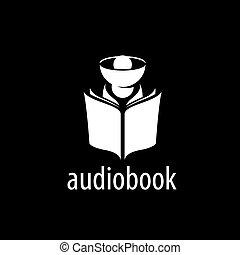 Audiobook. Vector logo template
