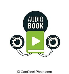 Audiobook. Vector logo template