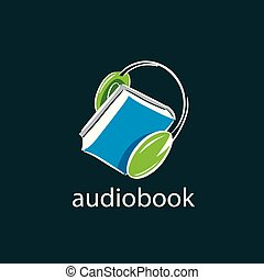 Audiobook. Vector logo template - Abstract pattern...