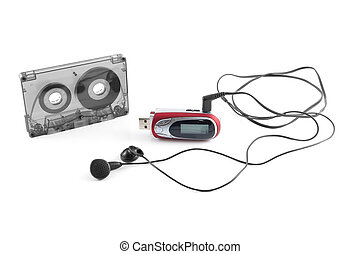 Audiocassette and mp3 player
