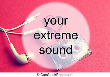 audiocassette background sound